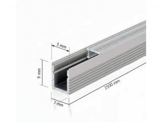 ALUMINIUM LED LEISTE 7 x 9 MM
